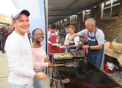 York High School's International food evening