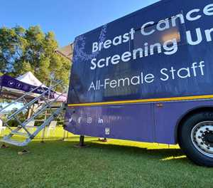 Mobile mammography and sonar unit back in George