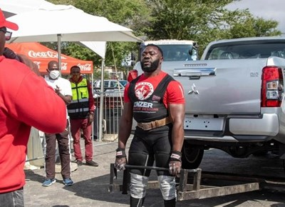 Strongman, crossfit contests at Garden Route 4x4 Outdoor Show & Home Expo