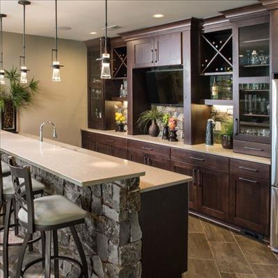 3 Beautiful Home Bars For Entertaining