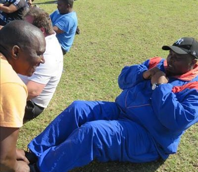 Police take part in fitness programme