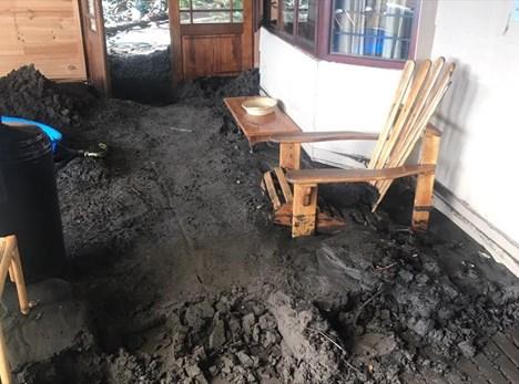 Rain brings mudslide into home
