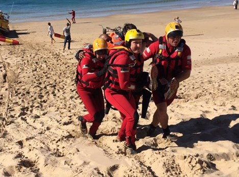 Land and sea rescue exercise in Plett