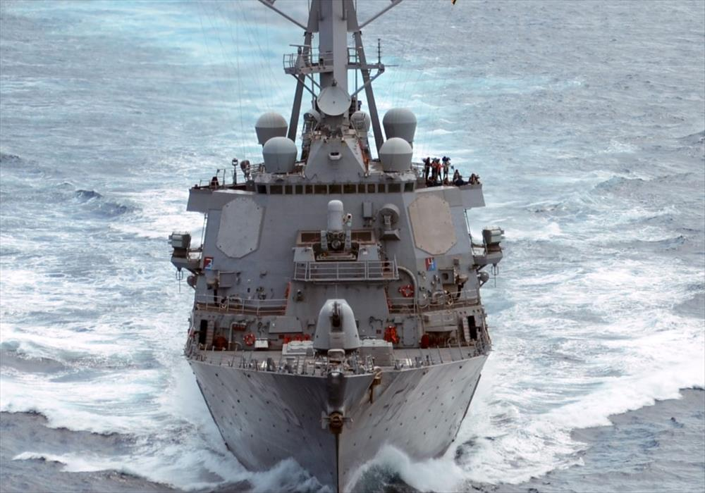 US Navy ship and oil tanker collide near Singapore | George Herald