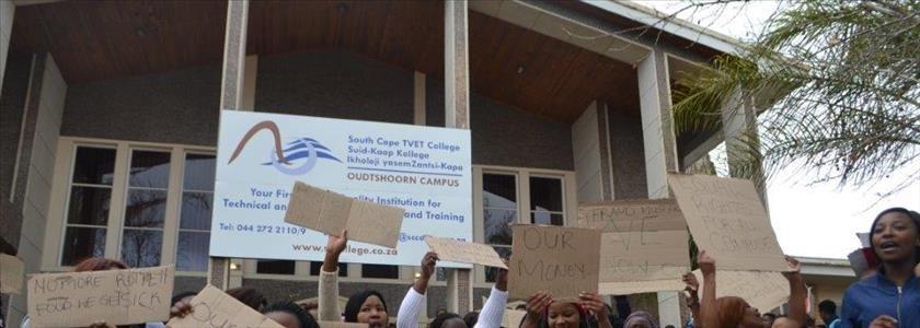 Betoging by Suid-Kaap Kollege